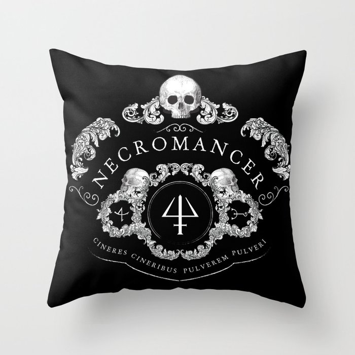 Necromancer Emblem Throw Pillow