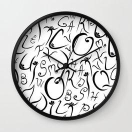 Elvish-Inspired Type Design Wall Clock