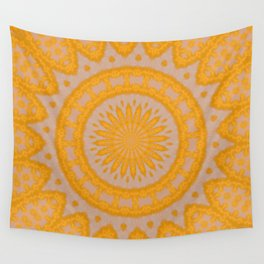 Orange Hearts And Flower Petals Wall Tapestry