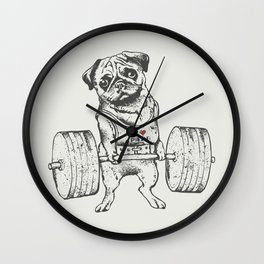 Pug Lift Wall Clock