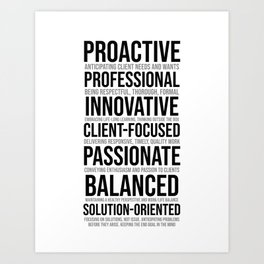 Proactive Professional, Office Decor Ideas, Wall Art Art Print