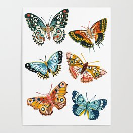 Woodland Butterfly Print Poster