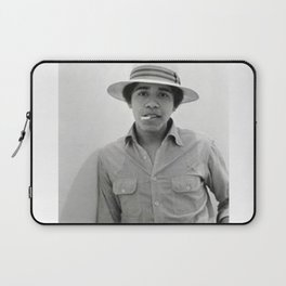 Barack Hussein Obama II - BLM - Society6 - First African American President Of The United States 223 Laptop Sleeve