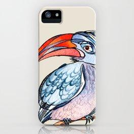 Earnest Hornbill iPhone Case