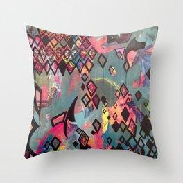 Kaleidoscope of Sound Throw Pillow