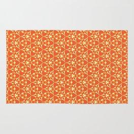 Bright Orange Geometrical Pattern Rug