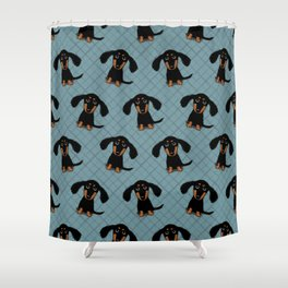 Cute Dachshund Puppy | Black and Tan Wiener Dog Shower Curtain