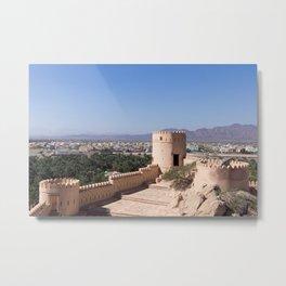 Nakhl Fort, Oman Metal Print