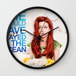 She should have stayed in the ocean Wall Clock