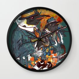 Mobster Puzzle Wall Clock