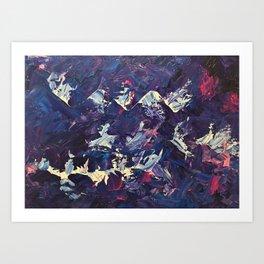 Arctic mountains Art Print