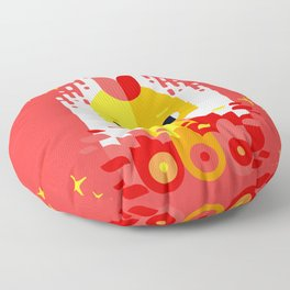 Year of the Rooster Floor Pillow