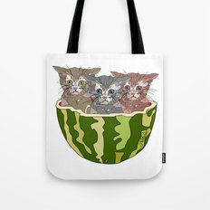 Watermelon Cats Tote Bag
