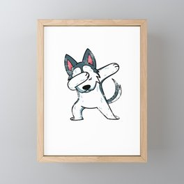 Cute Animal Dab Husky Framed Mini Art Print