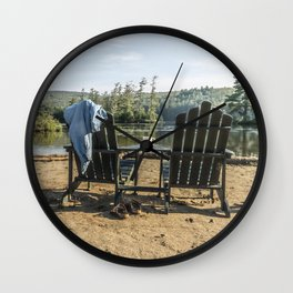 Adirondack Chairs Wall Clock