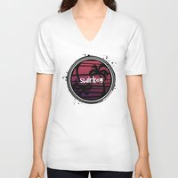 fire emblem V-neck T-shirts featuring Yin Yang Palm by Swirl Apparel