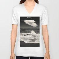 spain V-neck T-shirts featuring Mijas, Spain by Carlos Sanchez