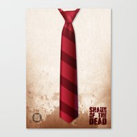 shaun of the dead Canvas Prints featuring SHAUN OF THE DEAD by VineDesign