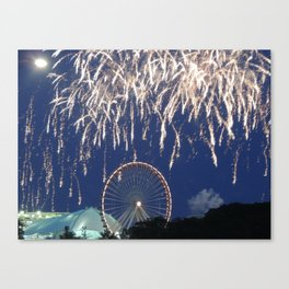 Navy Pier Fireworks Canvas Print