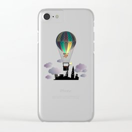 Balloon Aeronautics Night Clear iPhone Case