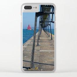 Big Red Clear iPhone Case
