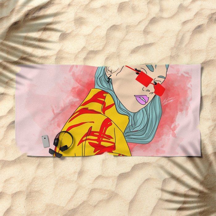 Cool Beach Towels For Girls Unicorn The Big One Pink Chevron Beach