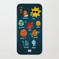 solar system iPhone & iPod Cases featuring Solar System by Duck Duck Moose