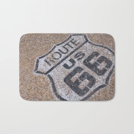 The mythical Route 66 sign in California, USA. Bath Mat