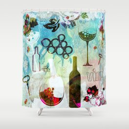 Abstract Wine Background Shower Curtain