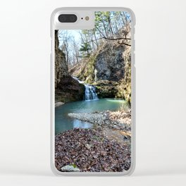 Alone in Secret Hollow with the Caves, Cascades, and Critters, No. 15 of 21 Clear iPhone Case