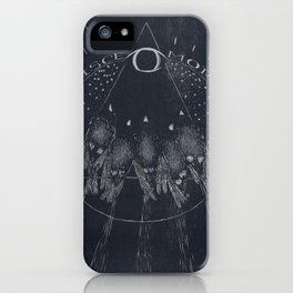 Disce More - Learn Death - Sparrows Woodcut iPhone Case