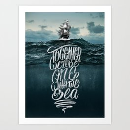 One With The Sea Art Print