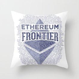 Ethereum Frontier Grunge original Throw Pillow