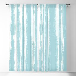 Shibori Stripe Seafoam Blackout Curtain