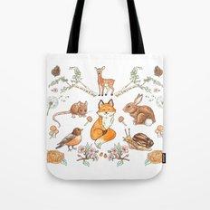 Lady Woodland Tote Bag
