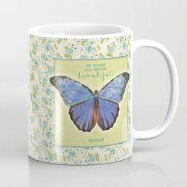 Fly By Faith Butterfly by Terri Conrad Designs Coffee Mug