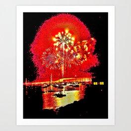 Fireworks, Marblehead, MA Art Print