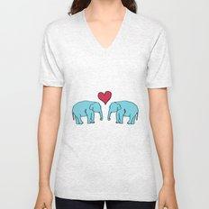 Elephant Love Unisex V-Neck