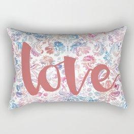 Watercolor Demask Rectangular Pillow