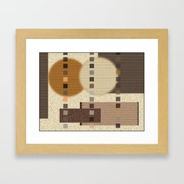 Neutral Abstract Framed Art Print