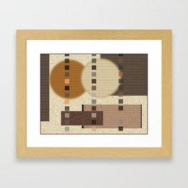 Neutral Abstract Framed Art Print