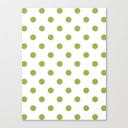 Green Polka Dots Canvas Print