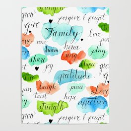 Family - Watercolor Poster