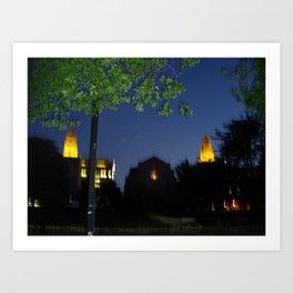 Boston University: Marsh Plaza at Night Art Print