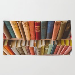 The Colorful Library Beach Towel