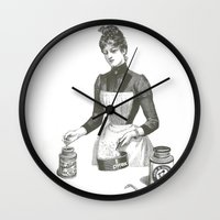 cooking Wall Clocks featuring Cooking by MICKEY FICKEY GALLERY