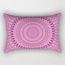 Pink star mandala Rectangular Pillow
