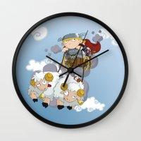 thor Wall Clocks featuring Thor by Alapapaju
