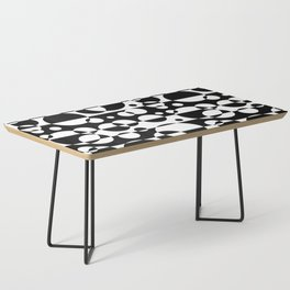 Black White Geometric Circle Abstract Modern Print Coffee Table