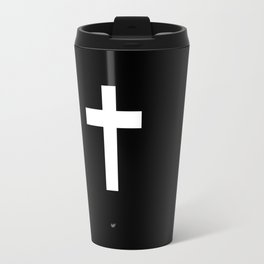 White Cross Travel Mug